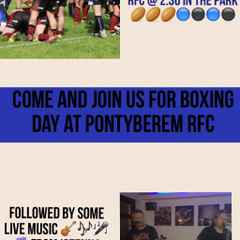 Pontyberem RFC v Carmarthen Athletic RFC