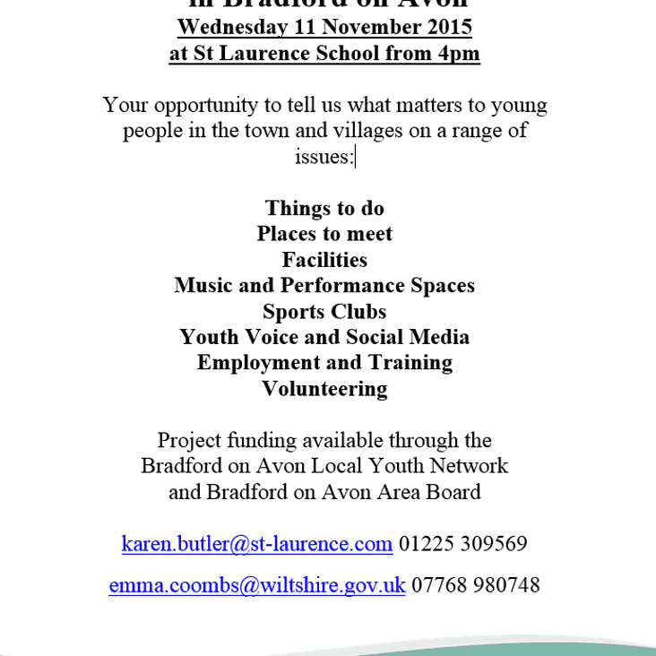 What Matters To Youth - Meeting