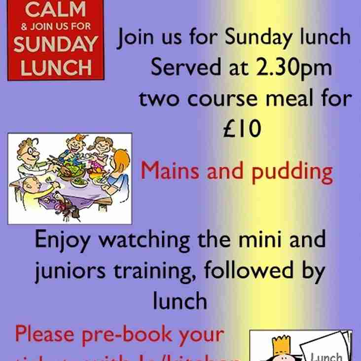 SUNDAY LUNCH - 30 OCTOBER 2016