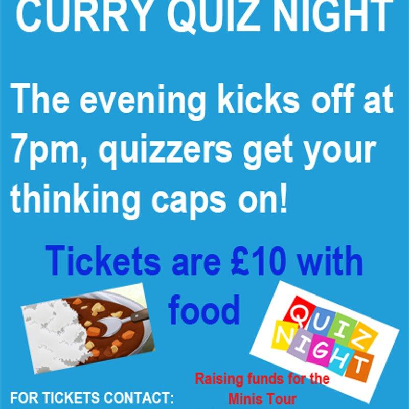 Minis Tour Curry Quiz Night