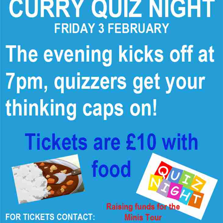 Minis Tour Curry Quiz Night
