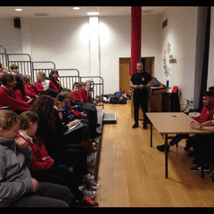 Academy Scholars involved in Show Racism the Red Card Event.