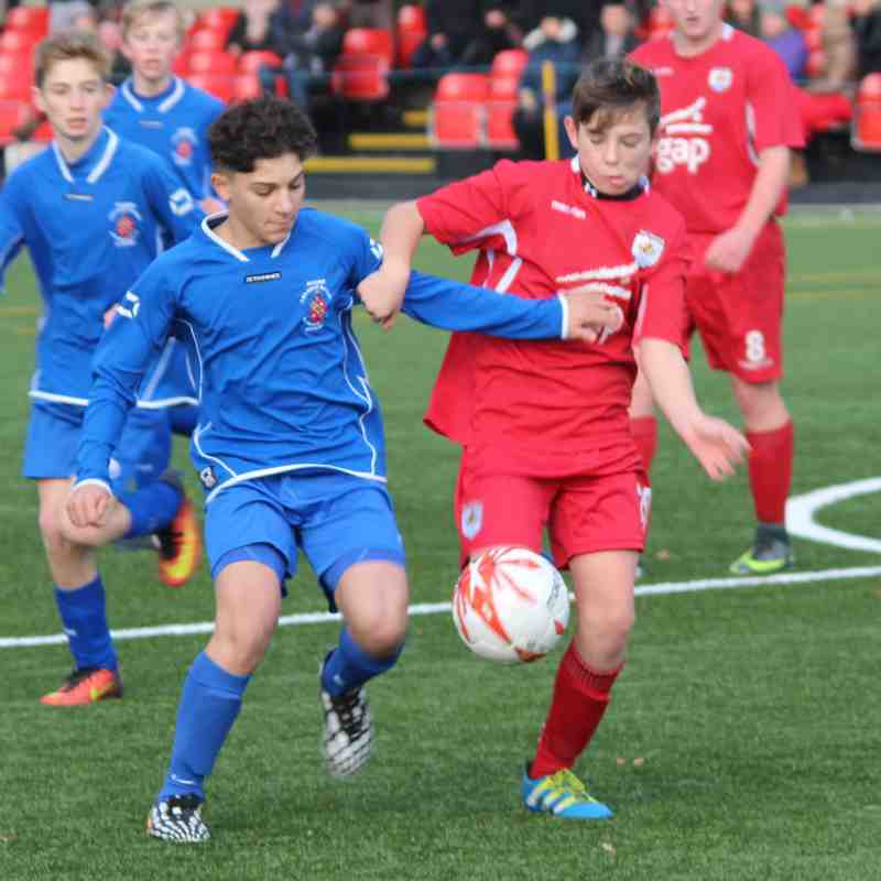 U14s vs Bangor City - Super Six - 27/11/16 - The Quay 3G