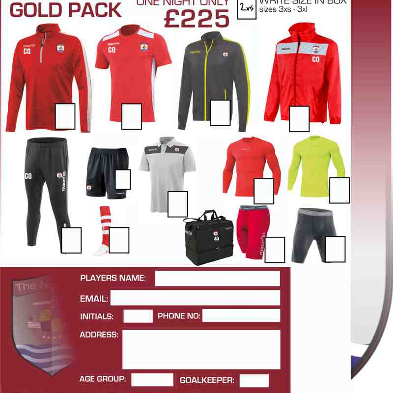 Macron Academy Kit Packs 2017-18 and 2018-19