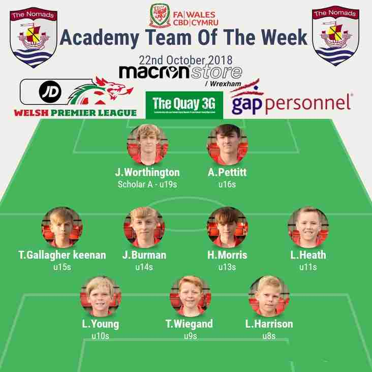 Academy Team of the Week - Tuesday 23rd October 2018