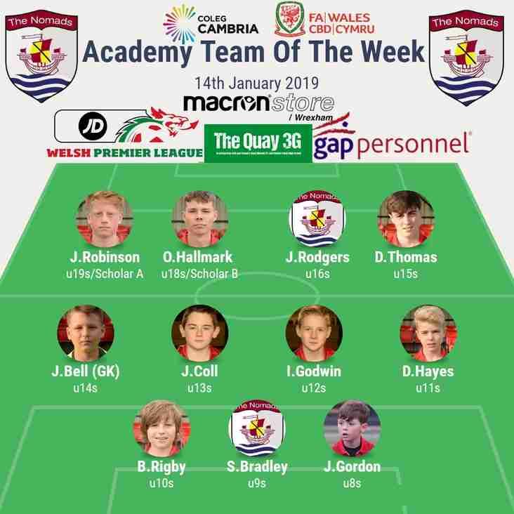 Academy Team of the Week - Sunday 13th January 2019