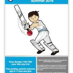 Kwik Cricket begins this Sunday at Goldenacre