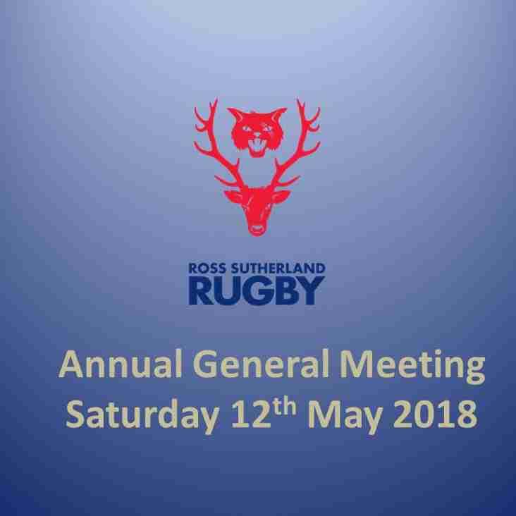 Annual General Meeting - Saturday 12th May - Update