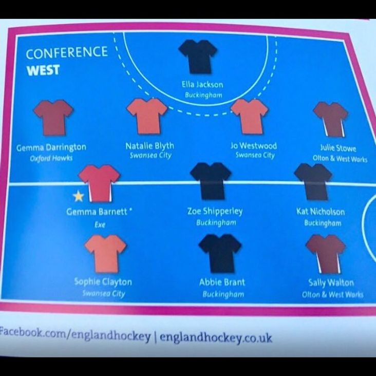 Investec Hockey West Conference Team Of The Year 2016-17<