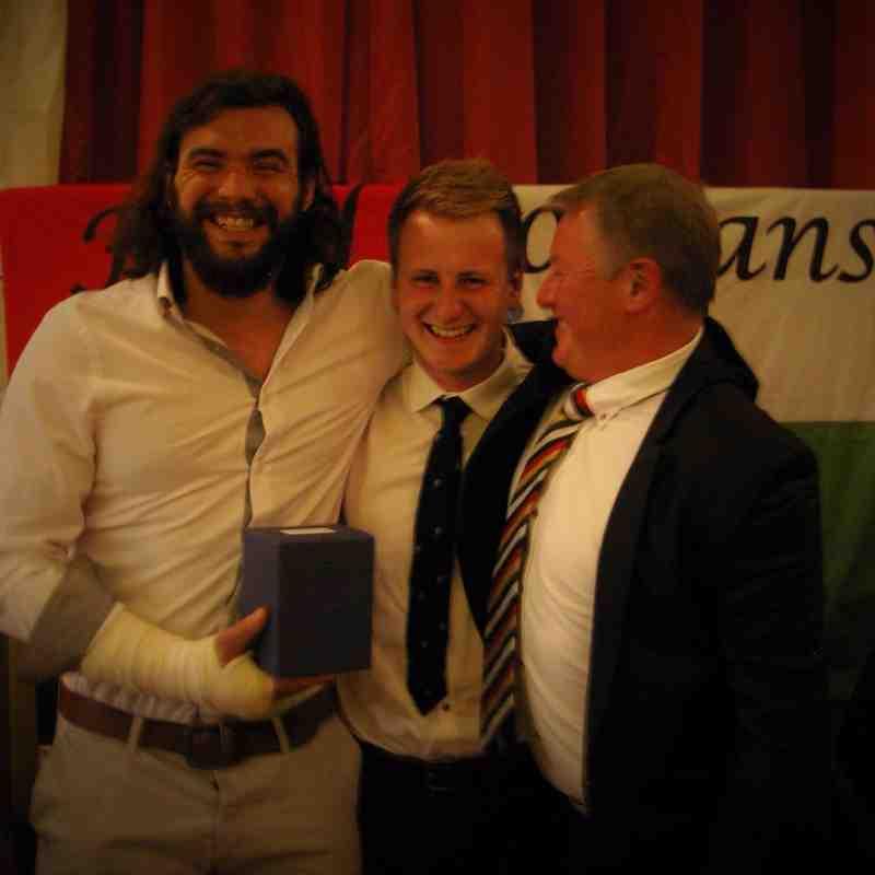 second best Bucc collecting the award on behalf of Harry Platten
