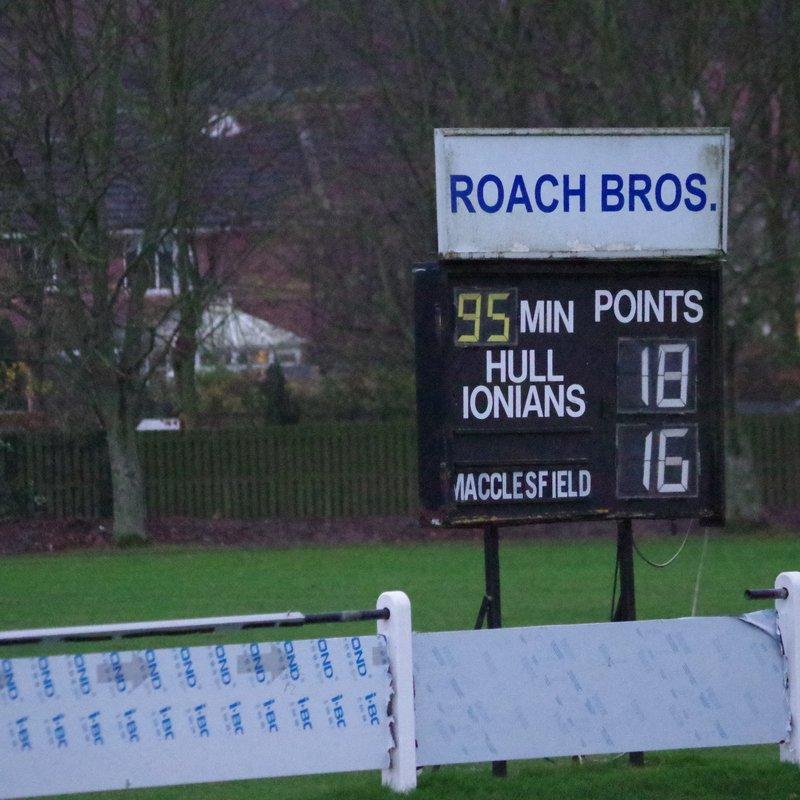 Ionians 18 v 16 Macclesfield