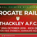 Harrogate Railway Athletic 2 Thackley 2 - Match Report.