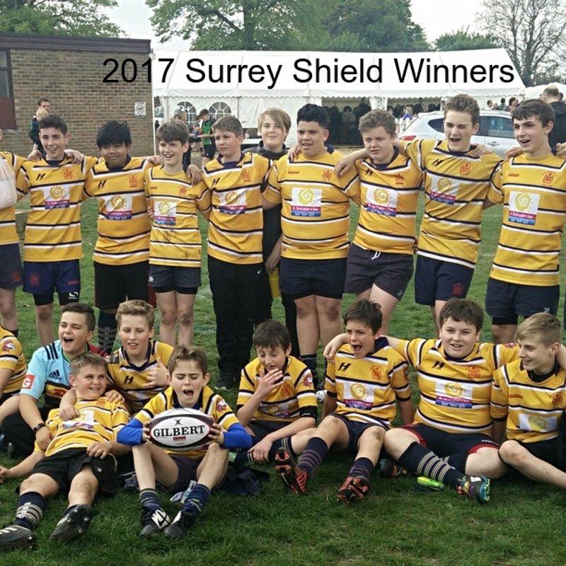 Emanuel Under 13's Win Surrey Shield!