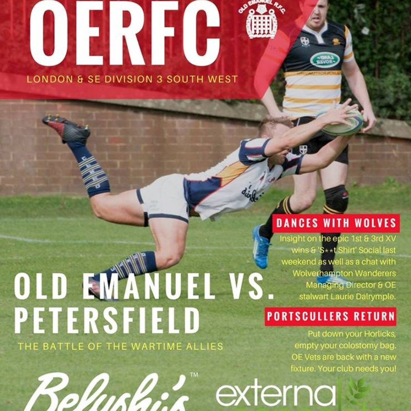 OE's v Petersfield Programme - 4 November 2017
