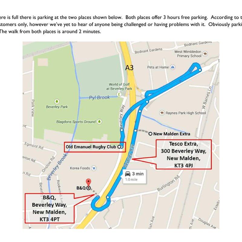 Sunday 21th January - No Parking At Blagdons