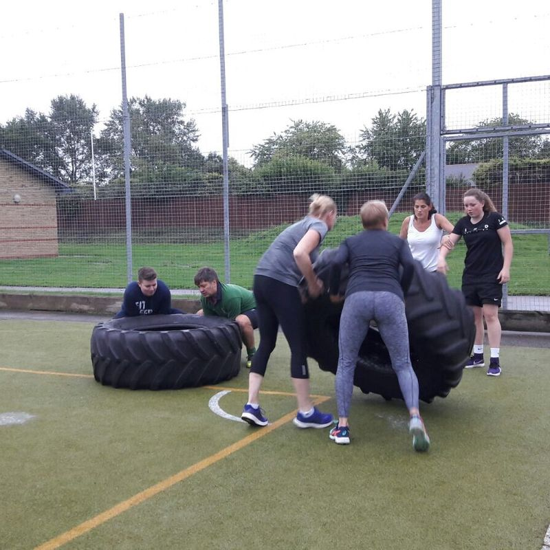 Fitness sessions underway..