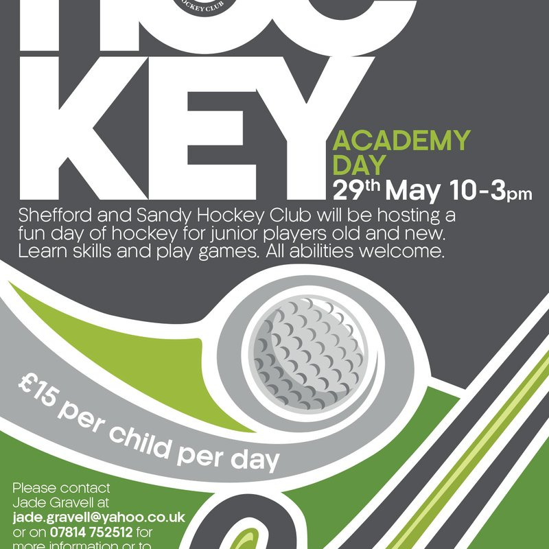 Junior academy day on 29th May