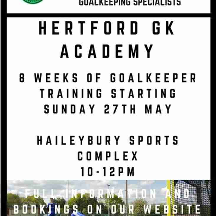 Goal Keeper Training/Academy