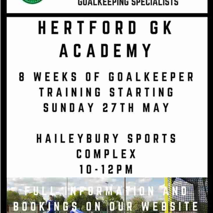 Goal Keeper Training/Academy