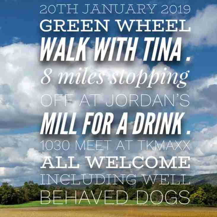 Green wheel walk with Tina