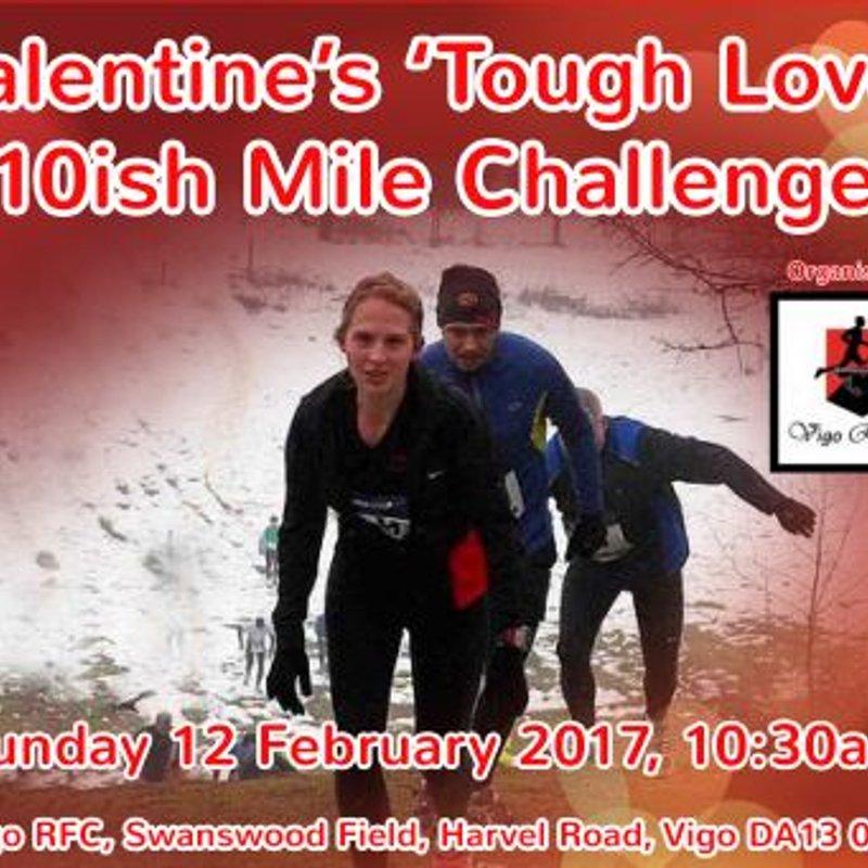 Valentine's 'Tough Love' 10ish Mile Challenge