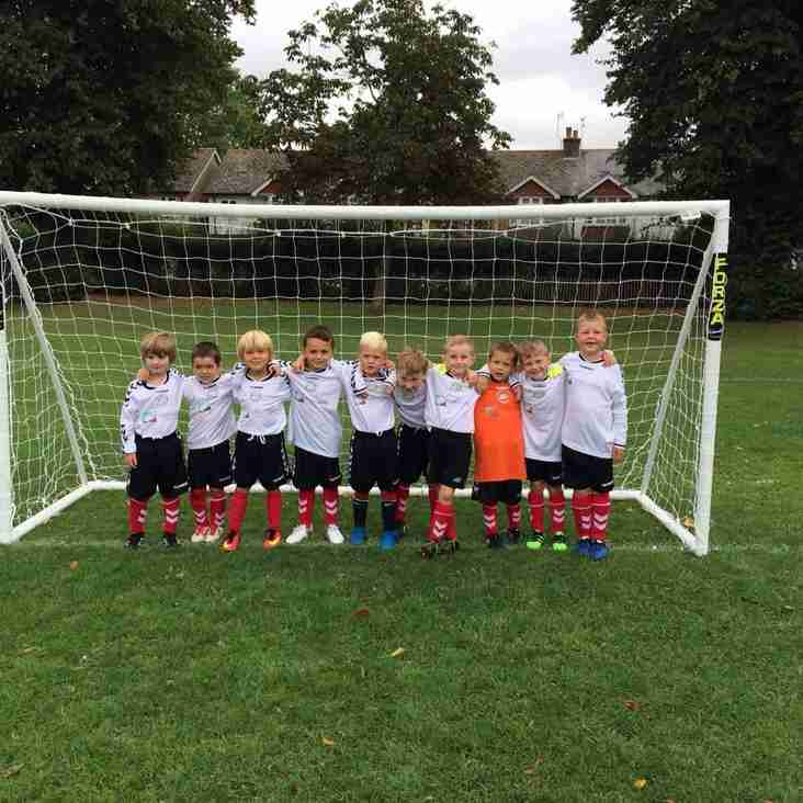Chichester City Colts U7s Red - Match kit Sponsor - Oakwood Construction