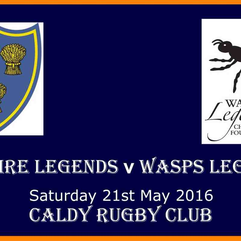 CHESHIRE LEGENDS V WASPS LEGEND - 21st MAY 2016