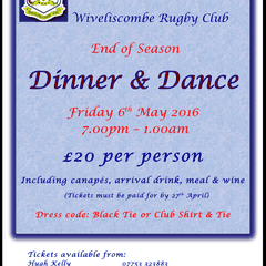 END OF SEASON DINNER AND DANCE