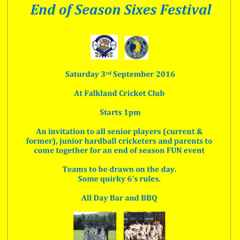 End of season FUN 6's festival - OPEN to ALL