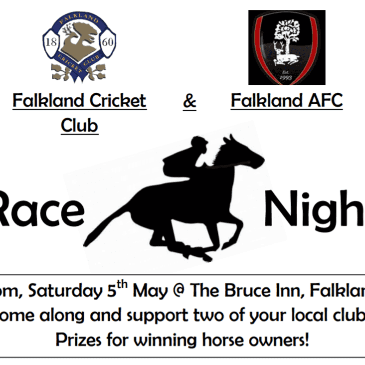 RACE NIGHT - Falkland CC & Falkland AFC