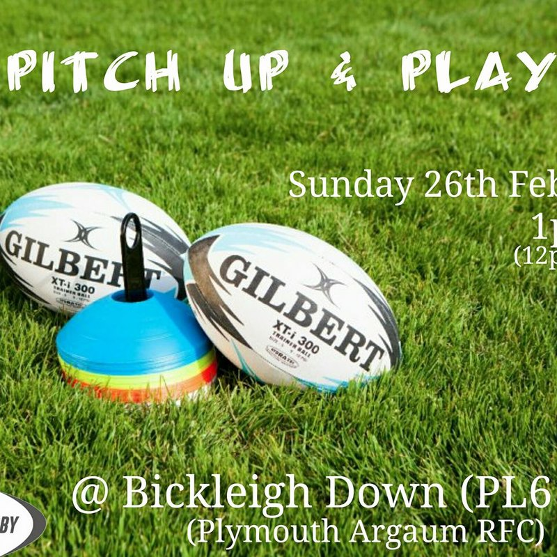 RFU 'Pitch Up And Play'