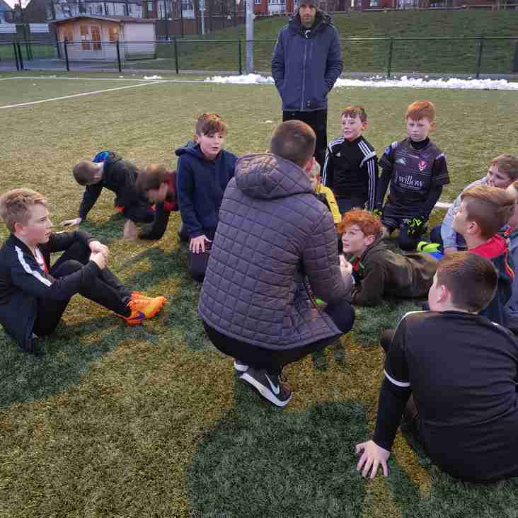 Fit4All have second session with U11s