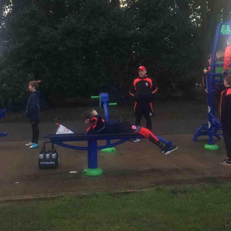 Pilk's u11's having fun at Taylor park gym