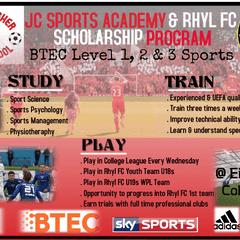 JC Sports Academy & Rhyl FC Scholarship Program 2016-2017