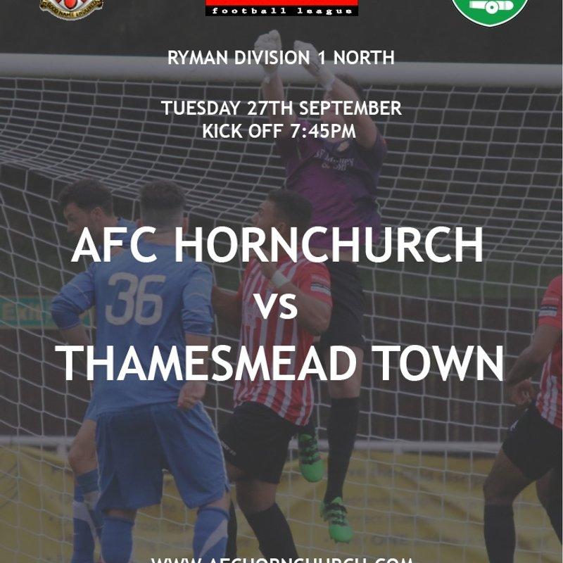Next Match.  vs Thamesmead Town
