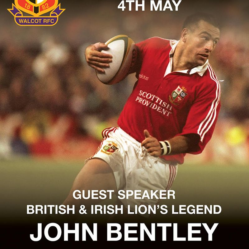 John Bentley to speak at the annual club dinner
