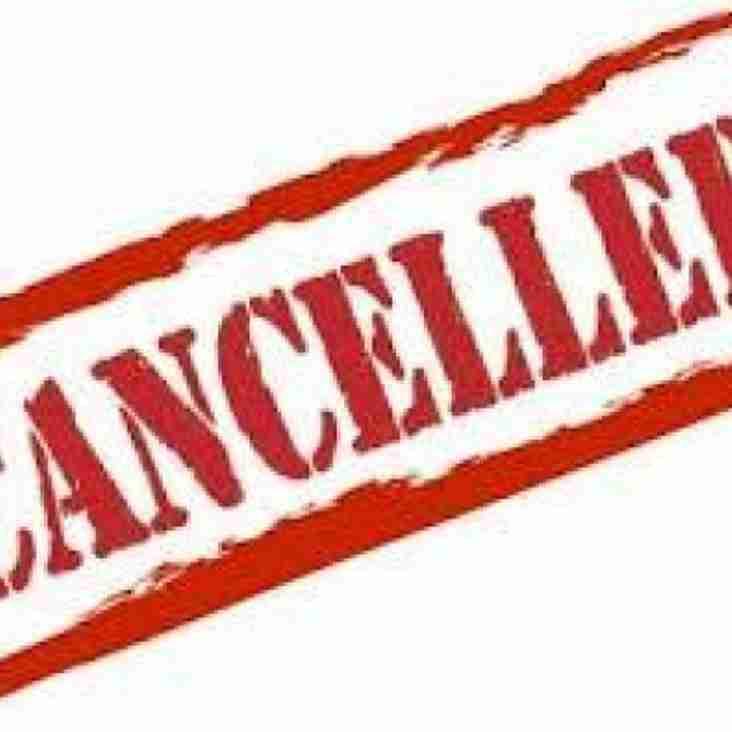 2nd XV Match Postponed