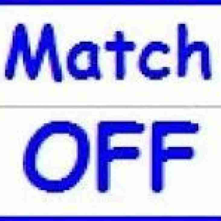 Saturday's 1st XV Rugby 13th Jan - MATCH POSTPONED