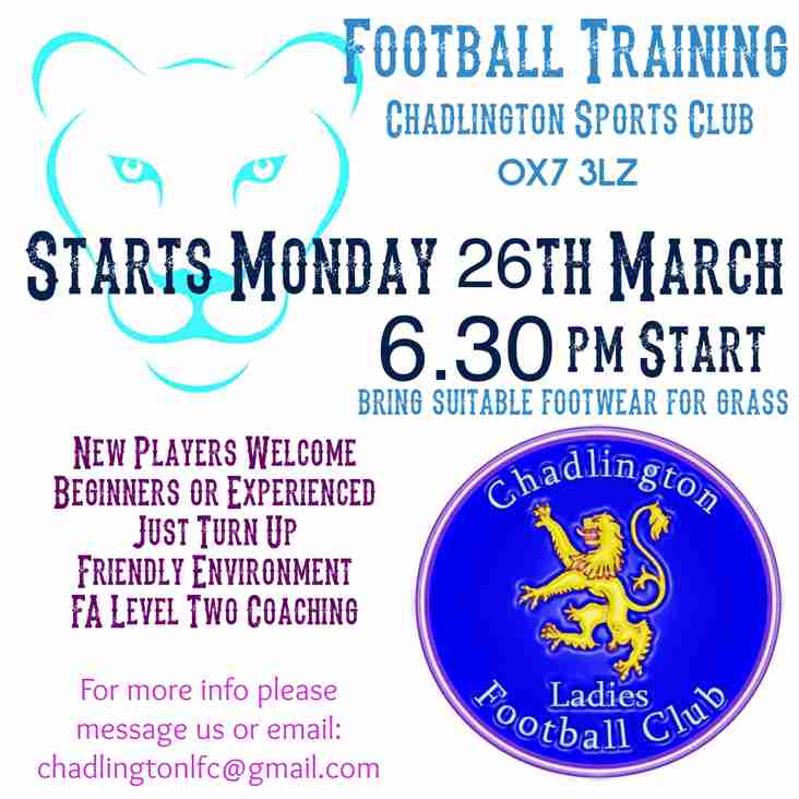 Chadlington Ladies Football Club is formed!