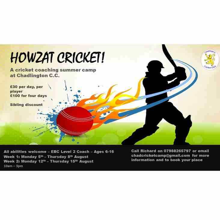 Howzat Cricket - Summer Coaching Camp!