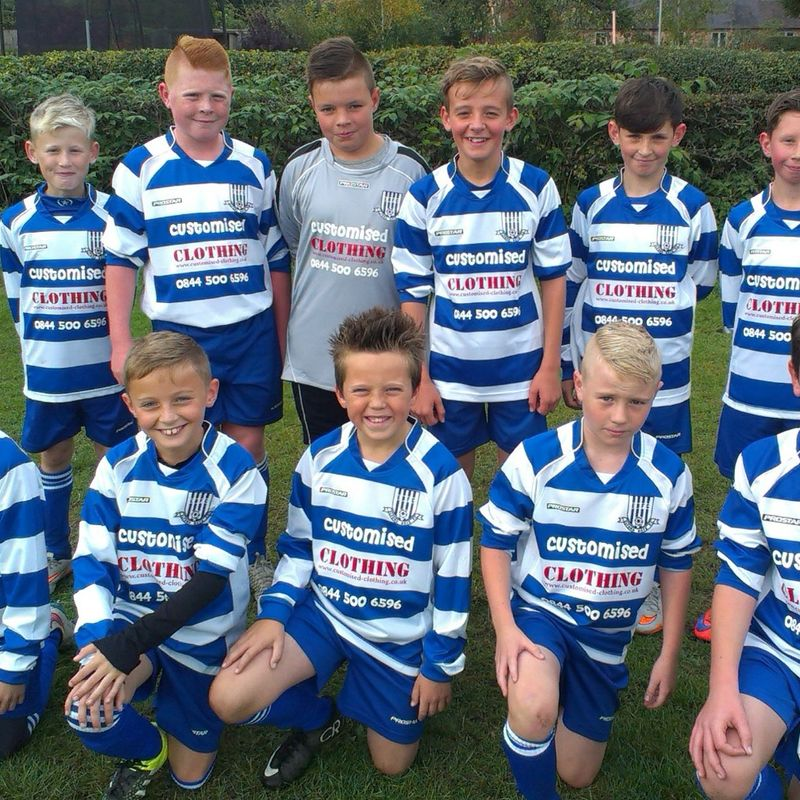 Ben Mann scores for Elford Boys FC