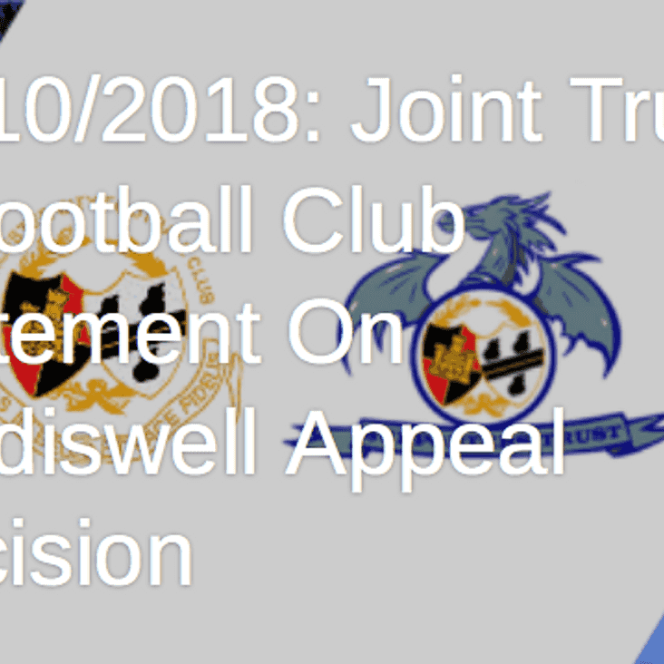 Joint Statement from Worcester City FC & WCFC Supporters Trust