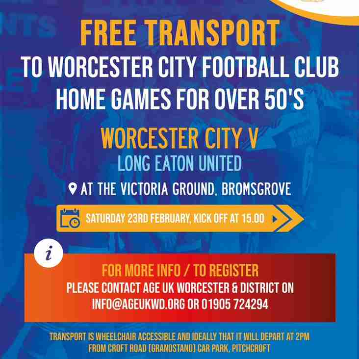 Free travel to home games is back for our next Home game