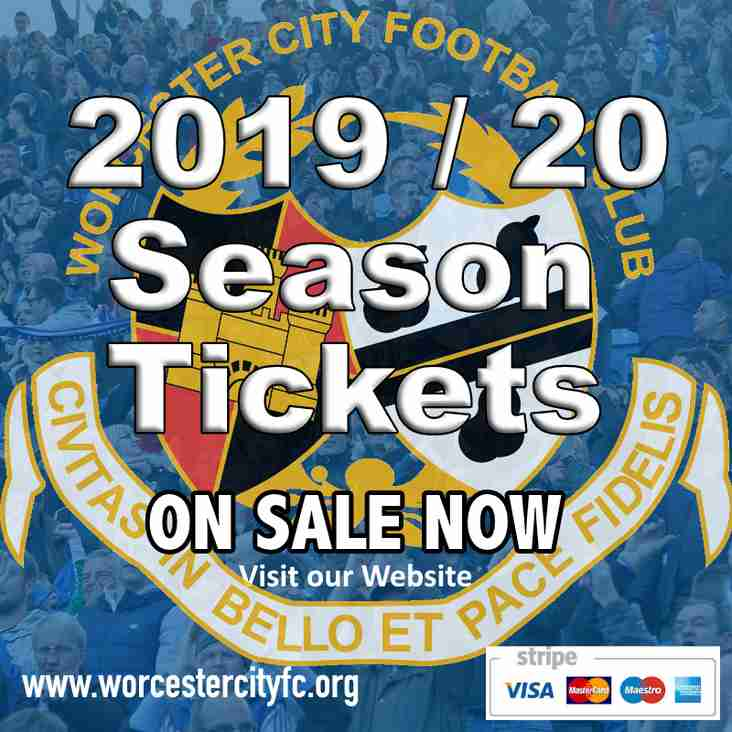 2019 / 2020 Season Tickets - Pay by Card