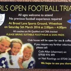 GIRLS OPEN FOOTBALL TRIALS