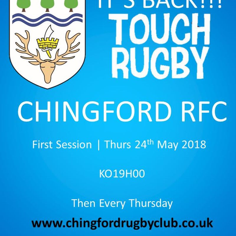 Summer Social touch Rugby Returns