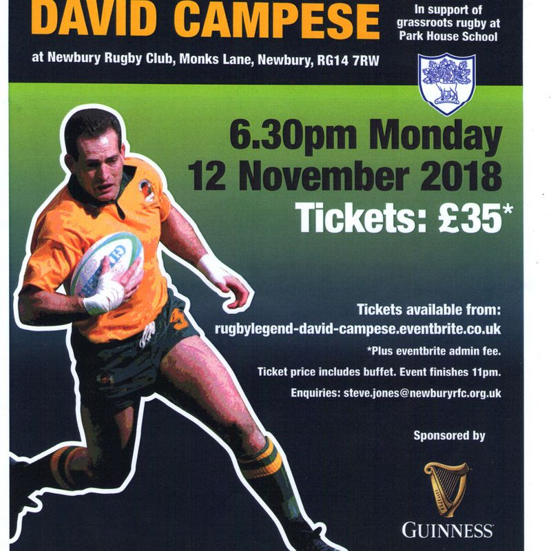 Park House Charity Evening with David 'Campo' Campese