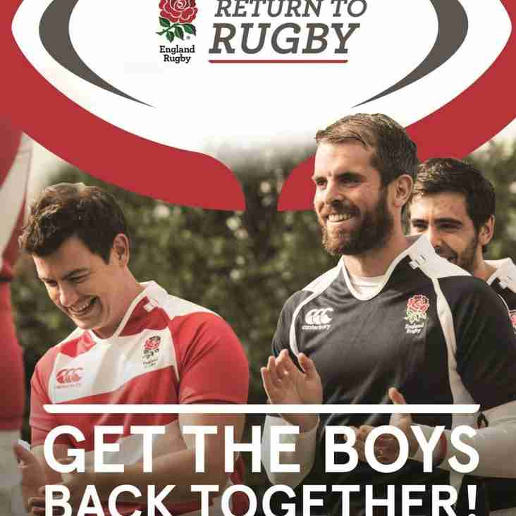 """Want to """"Try"""" rugby again?  or """"Try"""" a new Sport? Come on down and have fun, whatever your standard."""