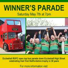Eccleshall RUFC Victory Parade - Saturday 7th May