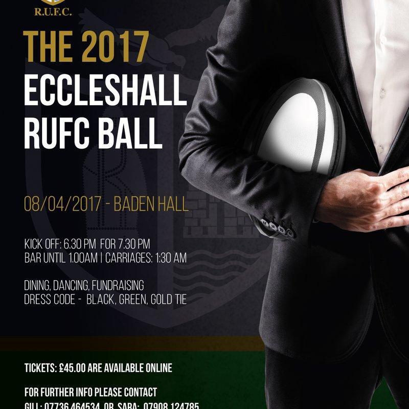 ECCLESHALL RUFC ANNUAL BALL - Saturday April 8th 2016